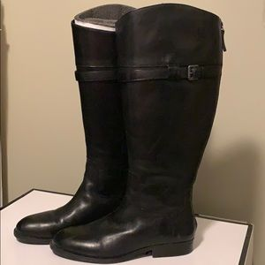 Nine West Wide Calf Leather Riding Boots